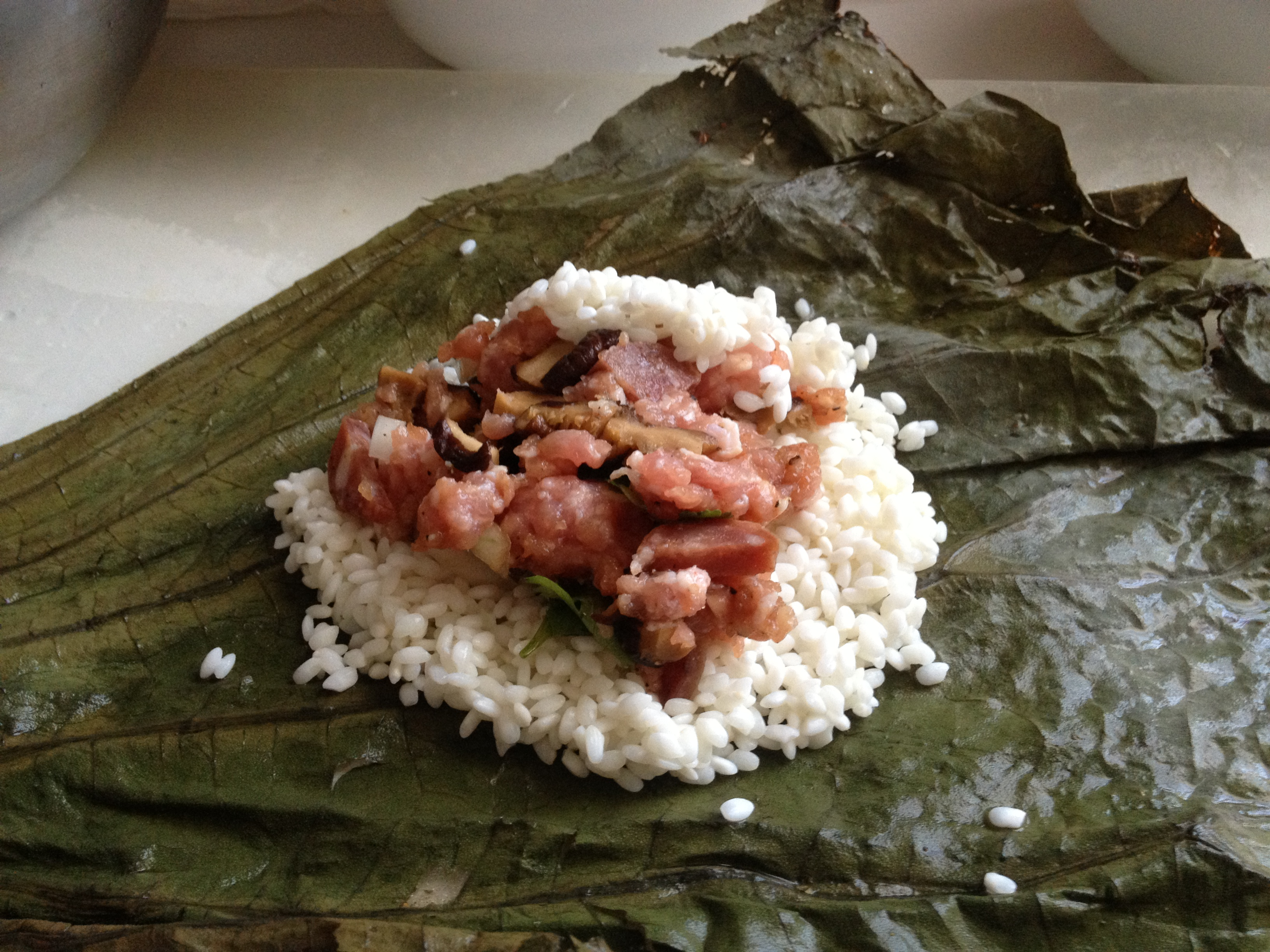 Banana Leaf Wrapped Rice Banana Leaf And Wrapped it